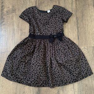 Carters Black and Gray Animal Print Dress 6/6x